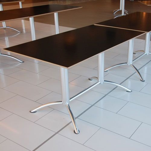 Segis Surf Bistro Table Canteen Table With Black Top
